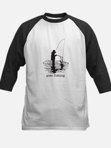 Personalized Gone Fishing Kids Baseball Jersey