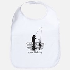 Personalized Gone Fishing Bib