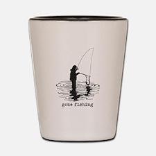 Personalized Gone Fishing Shot Glass