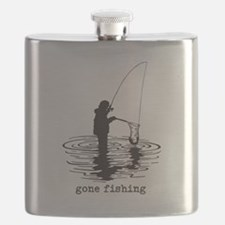 Personalized Gone Fishing Flask