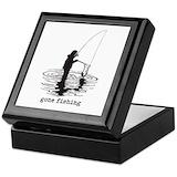 Fishing Square Keepsake Boxes