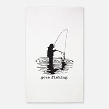 Personalized Gone Fishing 3'x5' Area Rug