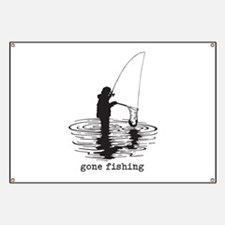 Personalized Gone Fishing Banner