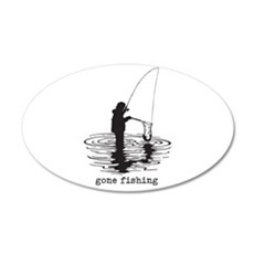 Personalized Gone Fishing Wall Decal