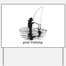 Personalized Gone Fishing Yard Sign