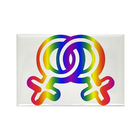 Lesbian Love Rectangle Magnet