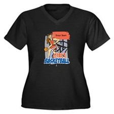 Personalized Girls Basketball Women's Plus Size V-