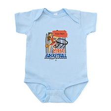 Personalized Girls Basketball Infant Bodysuit