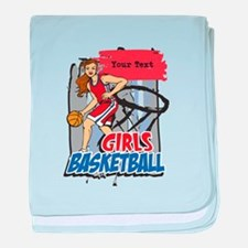 Personalized Girls Basketball baby blanket