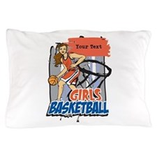 Personalized Girls Basketball Pillow Case