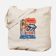 Personalized Girls Basketball Tote Bag