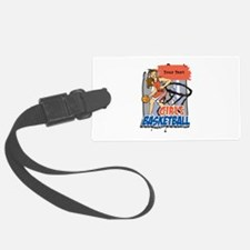 Personalized Girls Basketball Luggage Tag