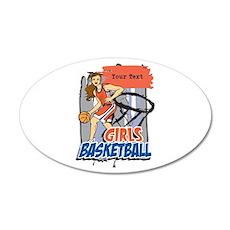 Personalized Girls Basketball Wall Decal