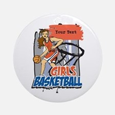 Personalized Girls Basketball Ornament (Round)