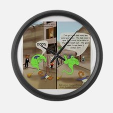 Genie In Cat City Large Wall Clock