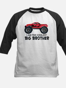 Coolest Big Brother - Truck Kids Baseball Jersey