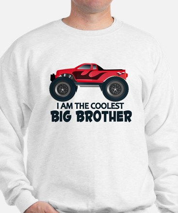 Coolest Big Brother - Truck Sweatshirt