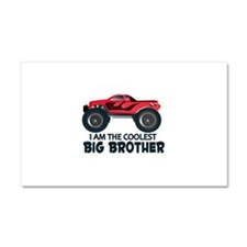 Coolest Big Brother - Truck Car Magnet 20 x 12