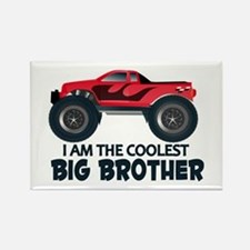Coolest Big Brother - Truck Rectangle Magnet
