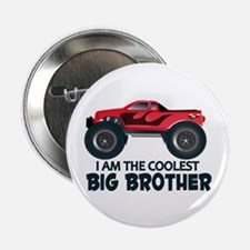 "Coolest Big Brother - Truck 2.25"" Button (100 pack"