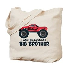 Coolest Big Brother - Truck Tote Bag