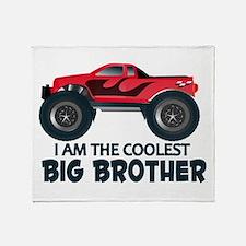 Coolest Big Brother - Truck Throw Blanket