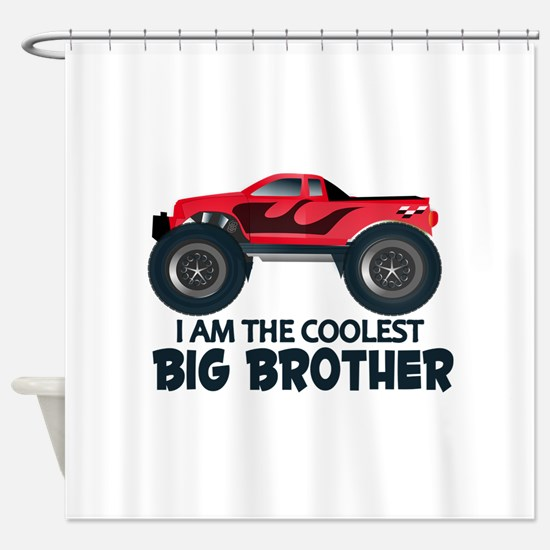 Coolest Big Brother - Truck Shower Curtain