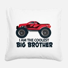Coolest Big Brother - Truck Square Canvas Pillow