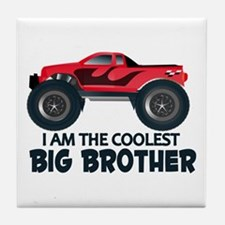 Coolest Big Brother - Truck Tile Coaster
