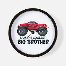 Coolest Big Brother - Truck Wall Clock