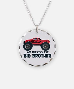 Coolest Big Brother - Truck Necklace