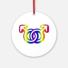Gay Pride Ornament (Round)