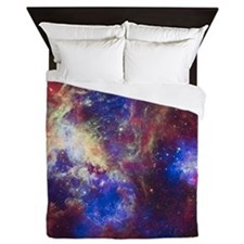Space - Galaxy - Stars Queen Duvet