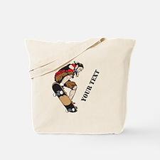 Personalized Skateboarder Tote Bag