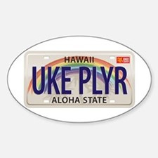 US Uke License Plate Decal