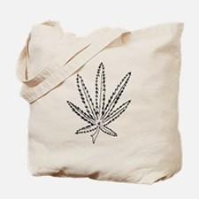 Slater Cannabis Leaf Tote Bag