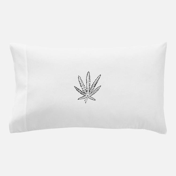 Slater Cannabis Leaf Pillow Case