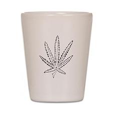 Slater Cannabis Leaf Shot Glass