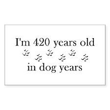 60 dog years 4-2 Decal