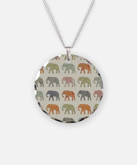 Elephant Colorful Repeating Necklace