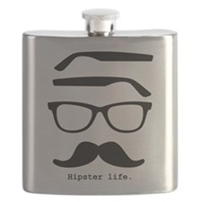 Hipster life Flask