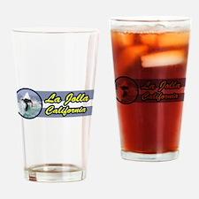 La Jolla, California Surfing Drinking Glass