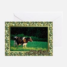 Holstein Cow Christmas Card Greeting Cards (Pk of