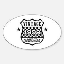 Vintage 1992 Sticker (Oval)