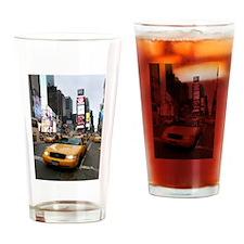 New York City Yellow Cab Drinking Glass