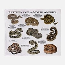 Rattlesnakes of North America Throw Blanket
