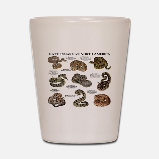 Rattlesnakes of North America Shot Glass