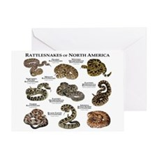 Rattlesnakes of North America Greeting Card