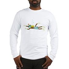 Sock Monkey Scuba Diver Long Sleeve T-Shirt