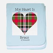 Heart - Bruce of Kinnaird baby blanket